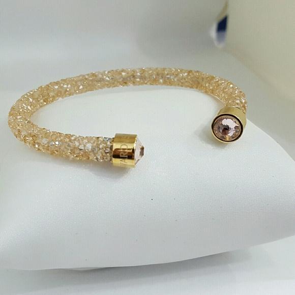 f83dc3524dc Swarovski Jewelry | Crystal Dust Cuff Bangel 5250067 | Poshmark